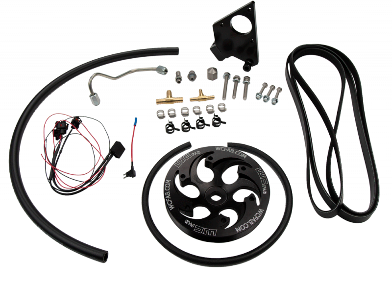 2001 2004 lb7 duramax twin cp3 kit black anodized pulley Jeep Wiring Harness wehrli custom fabrication 2001 2004 lb7 duramax twin cp3 kit black anodized pulley