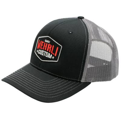 Wehrli Custom Fabrication - Snap Back Hat Black/Charcoal Badge