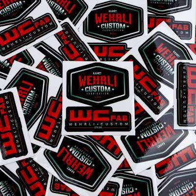 Wehrli Custom Fabrication - Wehrli Custom Assorted Die Cut Sticker Sheet