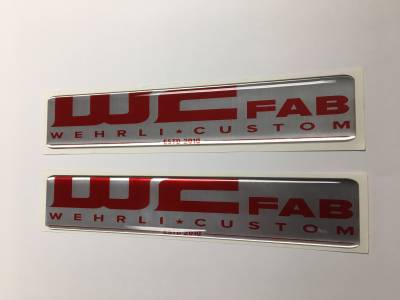 Wehrli Custom Fabrication - WCFab Gel Stickers