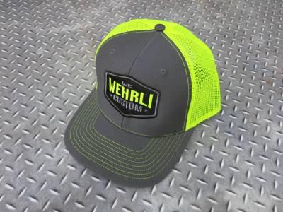 Wehrli Custom Fabrication - Snap Back Hat Charcoal/Fluorescent Green Badge