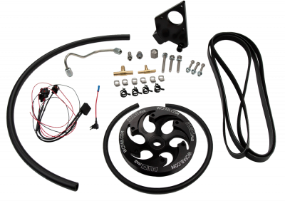 Wehrli Custom Fabrication - 2001-2004 LB7 Duramax Twin CP3 Kit Black Anodized Pulley