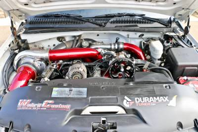 Wehrli Custom Fabrication - Duramax Twin CP3 Mount Bracket for AC Location (Deletes AC Compressor)