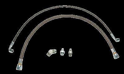 Wehrli Custom Fabrication - Twin Turbo Oil Line Kit (S400) for 2001-2010 Duramax
