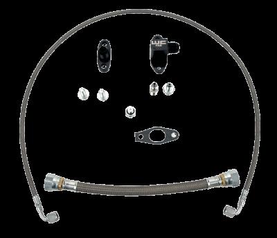 Wehrli Custom Fabrication - Single Turbo Oil Line Kit for 2001-2010 Duramax