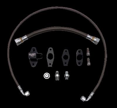 Wehrli Custom Fabrication - 2011-2016 LML DuramaxS300 Single Turbo Oil Line Kit