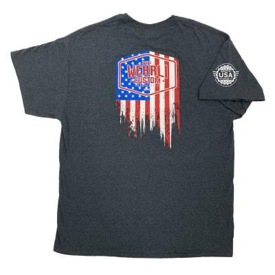 Wehrli Custom Fabrication - Men's T-Shirt- Flag LogoDark Heather