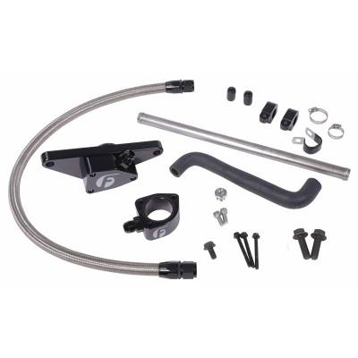 Fleece Performance  - 2003-2005 5.9L Cummins Fleece Coolant Bypass Kit (Auto Trans Only) w/ Stainless Steel Braided Line