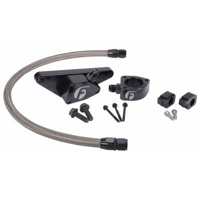 Fleece Performance  - 2003-2007 5.9L Cummins Fleece Coolant Bypass Kit (Manual Trans Only) w/ Stainless Steel Braided Line