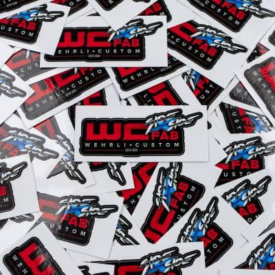 """Wehrli Custom Fabrication - WCFab Side X Side 3"""" Sticker"""
