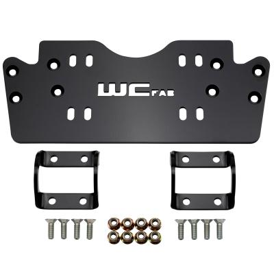 Wehrli Custom Fabrication - 2019+ Honda Talon X/R Winch Mount Plate Kit For WCFab Bumper