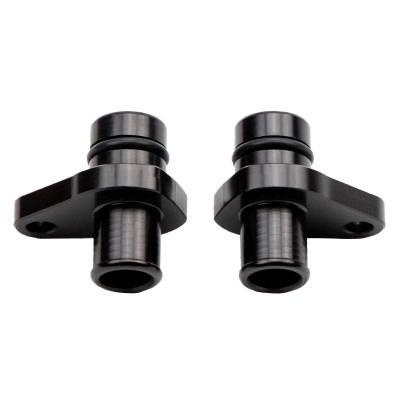 Wehrli Custom Fabrication - 2004.5-2010 LLY/LBZ/LMM Duramax Billet Crankcase Vent (PCV) Fitting Kit, Black Anodized