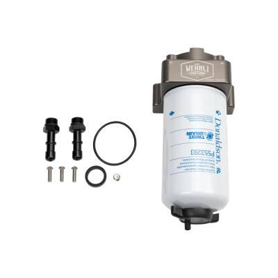 Wehrli Custom Fabrication - 2017-2019 & 2020+ Long Bed L5P Duramax Fuel Filter Housing Kit