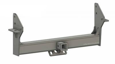 Big Hitch Products - BHP 10-18 Dodge Short/Long Bed BELOW Roll Pan 2 inch Receiver Hitch