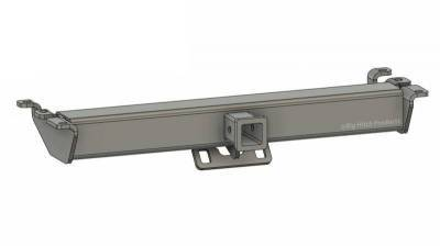 Big Hitch Products - BHP 94-02 Dodge Short/Long Box BEHIND Roll Pan 2 inch Hidden Receiver Hitch