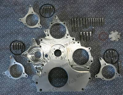 Fuel System Parts & Kits - Gear Drive CP3 Front Cover - Wehrli Custom Fabrication - Duramax Billet Front Engine Cover