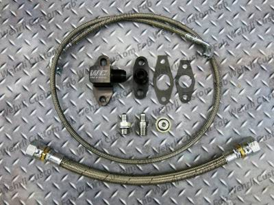 2004.5-2005 LLY - Single Turbo Kits - Wehrli Custom Fabrication - Single Turbo Oil Line Kit for 2001-2010 Duramax
