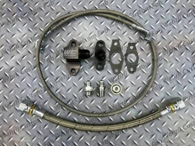 2011-2016 LML - Single Turbo Kits - Wehrli Custom Fabrication - Single Turbo Oil Line Kit for LML Duramax