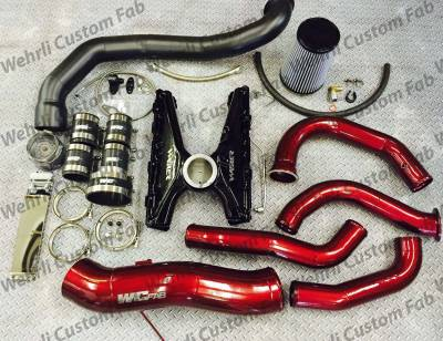 2007.5-2010 LMM - Single Turbo Kits - Wehrli Custom Fabrication - S400 Twisted Single Install Kit 2001-16 Duramax