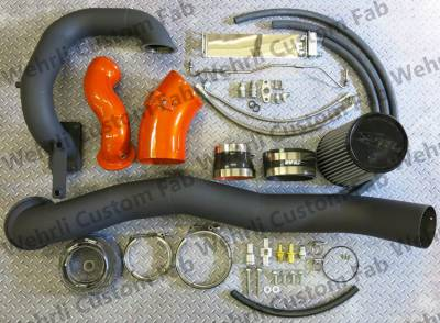 3rd Gen 6.7L 2007.5-09 - Compound Turbo Kits - Wehrli Custom Fabrication - S400/Stock Twin Kit 2007.5-09 6.7 Cummins