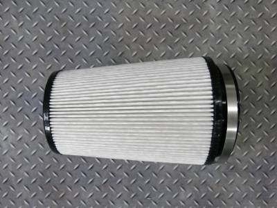 "2007.5-2010 LMM - Single Turbo Kits - Wehrli Custom Fabrication - Dry Air Filter 4"" Inlet"