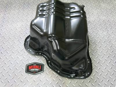 2001-2004 LB7 - Twin Turbo Kits - Wehrli Custom Fabrication - Lower Oil Pan with Turbo Drain Fitting LB7, LLY, LBZ, LMM