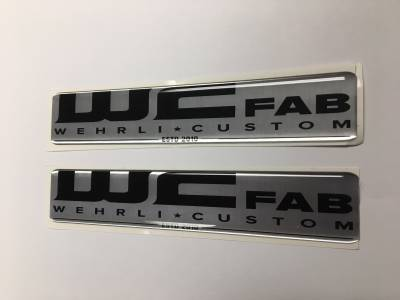 Apparel & Merchandise  - Stickers & Banners - Wehrli Custom Fabrication - WCFab Gel Stickers