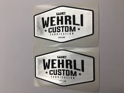 Apparel & Merchandise  - Stickers & Banners - Wehrli Custom Fabrication - Wehrli Custom Badge Gel Stickers