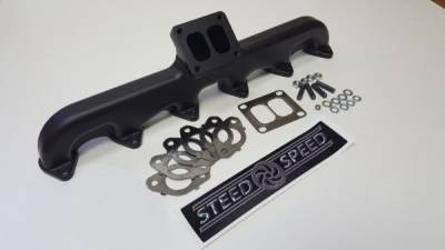 3rd Gen 6.7L 2007.5-09 - Compound Turbo Kits - Steed Speed - Steed Speed T4 24v Exhaust Manifold (Angled)