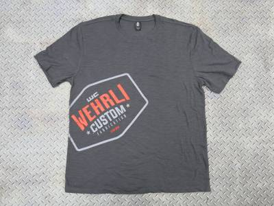 Apparel & Merchandise  - T-Shirts  - Wehrli Custom Fabrication - Men's T-Shirt- Front Logo