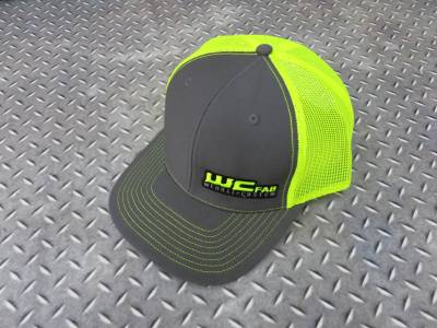 Apparel & Merchandise  - Hats & Can Coozies - Wehrli Custom Fabrication - Snap Back Hat Charcoal/Fluorescent Green WCFab