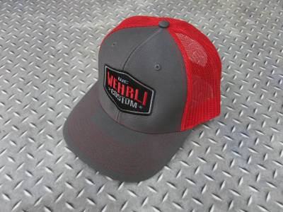 Apparel & Merchandise  - Hats & Can Coozies - Wehrli Custom Fabrication - Snap Back Hat Charcoal/Red Badge