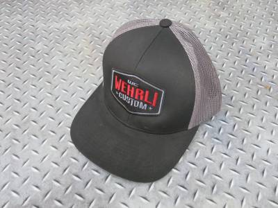 Apparel & Merchandise  - Hats & Can Coozies - Wehrli Custom Fabrication - Snap Back Hat Black/Charcoal Badge