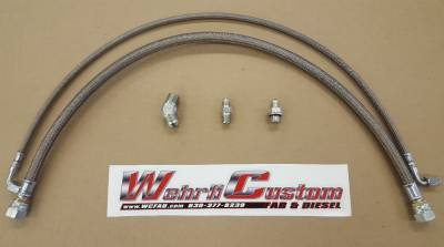 2007.5-2010 LMM - Remote Mount Turbo Kits - Wehrli Custom Fabrication - Twin Turbo Oil Line Kit (S400) for 2001-2010 Duramax