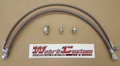 2011-2016 LML - Twin Turbo Kits - Wehrli Custom Fabrication - Twin Turbo Oil Line Kit (S400) for LML Duramax