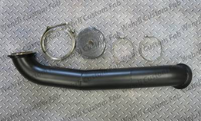 "2007.5-2010 LMM - Single Turbo Kits - Wehrli Custom Fabrication - Duramax S400 3"" Down Pipe"