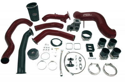 Turbo Kits - Single Turbo Kits - Wehrli Custom Fabrication - 2001-2004 LB7 Duramax S400 Single Turbo Install Kit