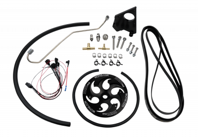 Fuel System Parts & Kits - Dual CP3 Kits & Misc. Parts - Wehrli Custom Fabrication - 2004.5-2005 LLY Duramax Twin CP3 Kit Black Anodized Pulley