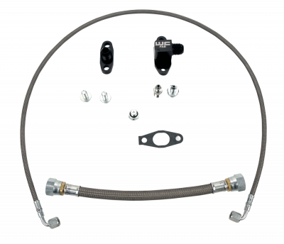 Wehrli Custom Fabrication - 2001-2010 LB7/LLY/LBZ/LMM Duramax Single Turbo Oil Line Kit
