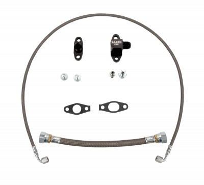 Wehrli Custom Fabrication - 2011-2016 LML Duramax Single Turbo Oil Line Kit