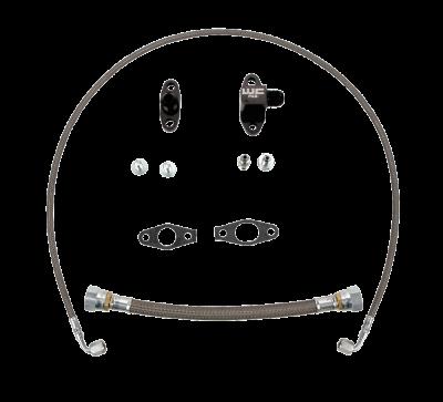 2011-2016 LML - Single Turbo Kits - Wehrli Custom Fabrication - 2011-2016 LML DuramaxSingle Turbo Oil Line Kit