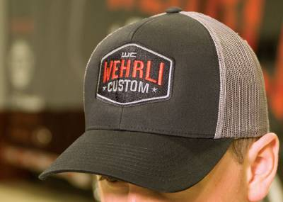 Apparel & Merchandise  - Hats - Wehrli Custom Fabrication - Snap Back Hat Black/Charcoal Badge