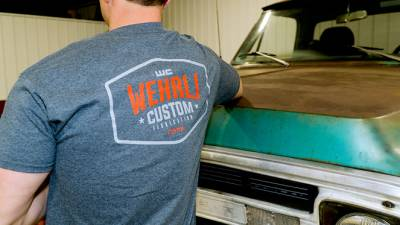 Wehrli Custom Fabrication - Men's T-Shirt- Back Logo - Image 5