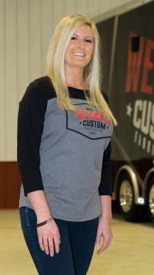 Apparel & Merchandise  - T-Shirts  - Wehrli Custom Fabrication - Women 3/4 Sleeve T-Shirt