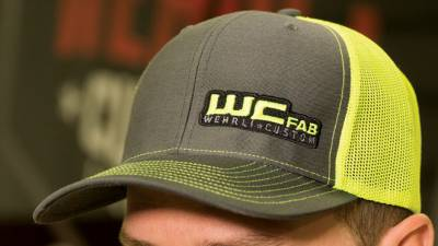 Apparel & Merchandise  - Hats - Wehrli Custom Fabrication - Snap Back Hat Charcoal/Neon Yellow WCFab