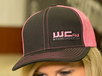 Apparel & Merchandise - Hats & Can Coozies - Wehrli Custom Fabrication - Snap Back Hat Black/Pink WCFab