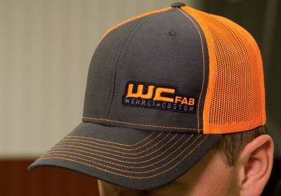 Apparel & Merchandise  - Hats & Can Coozies - Wehrli Custom Fabrication - Snap Back Hat Charcoal/Fluorescent Orange WCFab