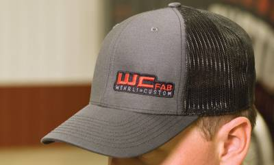 Apparel & Merchandise - Hats & Can Coozies - Wehrli Custom Fabrication - Snap Back Hat Charcoal/Black WCFab