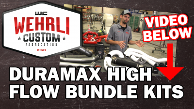 Wehrli Custom Fabrication - 2011-2016 LML Duramax High Flow Intake Bundle Kit (V-Band Flange Down Pipe) - Image 4