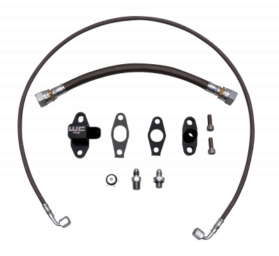 Wehrli Custom Fabrication - 2011-2016 LML Duramax S400 Single Turbo Oil Line Kit